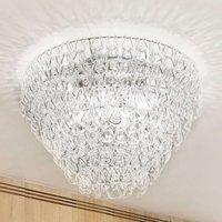 Giogali glass ceiling light  50 cm  transparent