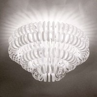 Glass ceiling light ECOS  white