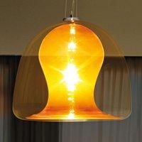 Naranza hanging lamp crystal glass    57 cm orange
