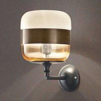 Futura designer wall light  glass  bronze