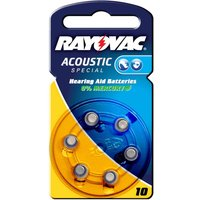 Rayovac 10 Acoustic 1 4 V  105mAh button cell