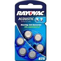 Rayovac 675 Acoustic 1 4 V  640mAh button cell