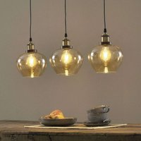 Three bulb Jonas linear pendant light