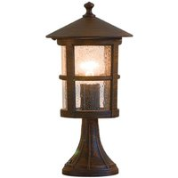 Skiathos pillar light IP54 brown