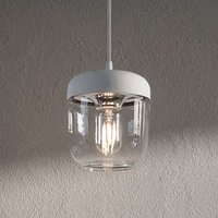 UMAGE Acorn hanging lamp white steel