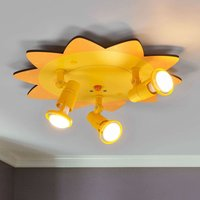 Amusing Sun ceiling light with 3 bulbs