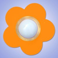 Decorative orange Petit Fleur ceiling light