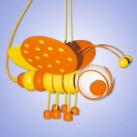 Sweet yellow Little Bee pendant light