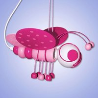 Sweet Little Bee pendant light  magenta