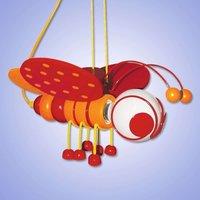 Sweet Little Bee pendant light  red