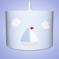 Striped Estria Boat hanging light