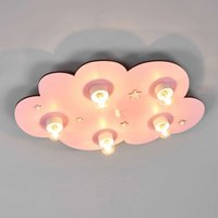 Dreamy pink Cloud children s ceiling light