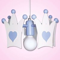Cute light blue Crown hanging light