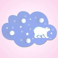 Cute Cloud Polar Bear ceiling light with LEDs