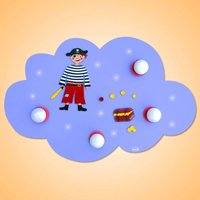 LED ceiling light Pirate as cloud with 4 bulbs