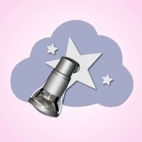 Heavenly light blue Cloud Starlight wall light