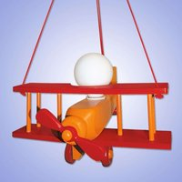 Colourful red Aeroplane XXL hanging light