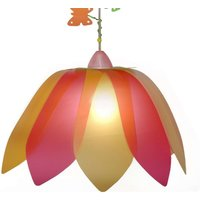 Red yellow Flower Butterfly pendant light