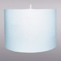 Pretty light blue Vichy checked hanging light