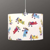 Aeroplane pendant light for children
