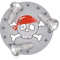 Ceiling light Skull with three spotlights