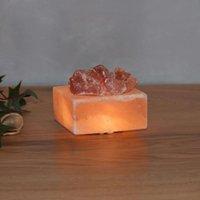 Petite Cube   luminous LED salt crystal bowl