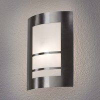 Beautiful LED outdoor wall lamp Katalea in silver