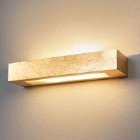 Angular plaster wall light Emina in gold