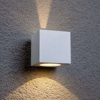 White LED outdoor wall light Jarno  cube form