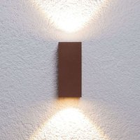 Bright  LED outdoor wall lamp Tavi rust brown