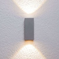 Silver outdoor wall light Tavi with Bridgelux LED