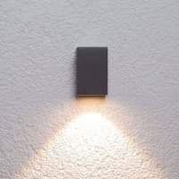 Graphite grey LED outdoor wall light Tavi  9 5 cm