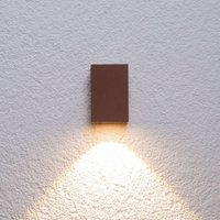 Rusty brown LED outdoor wall light Tavi  9 5 cm