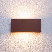 Rectangular outdoor wall light Bente  auburn