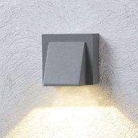 Silver grey LED outdoor wall light Marik