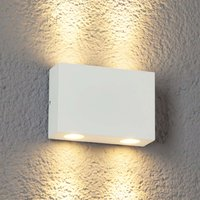 4 bulb Henor LED outdoor wall light in white