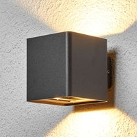 Graphite grey Aaron LED outdoor wall light