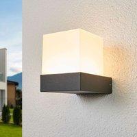 Pelina   LED outdoor wall light in cube shape