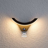 LED outdoor wall light Half with motion detector