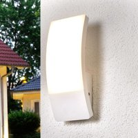 White LED outdoor wall lamp Siara  curved form