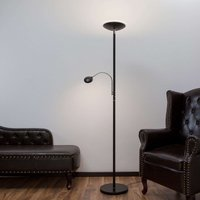 LED uplighter Malea with reading arm  black