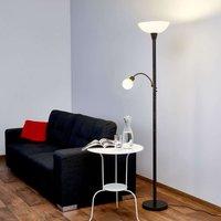 LED uplighter Elaina with reading light