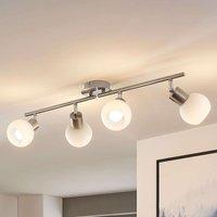 Four bulb LED ceiling light Elaina  nickel matte