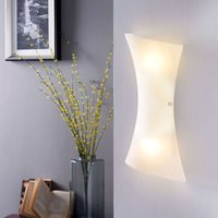 White Ebba LED glass wall light
