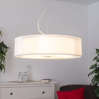 Pikka fabric pendant light with E27 LED lamps