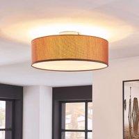 Elegant light brown ceiling light Sebatin