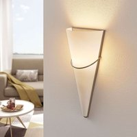 Satin nickel  opal glass LED wall light Melek