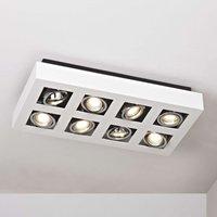8 bulb bright LED ceiling light Vince in white