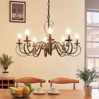 8 light chandelier Caleb in a country house style
