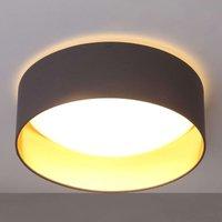 Grey LED ceiling lamp Coleen  gold inside